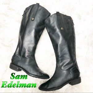San Edelman leather Black Knee Hi Riding Boot 9